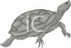 picture of a turtle in grayscale in a vector clip art illustration clipart