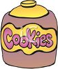 picture of a cookie jar full of cookies in a vector clip art illustration clipart