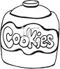 picture of a black and white jar of cookies in a vector clip art illustration clipart