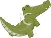 picture of  cartoon alligator on a white background in a vector clip art illustration clipart