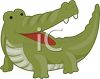 picture of a cartoon alligator with his mouth open in a vector clip art illustration clipart