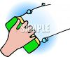picture of a person cleaning with a sponge in a vector clip art illustration clipart