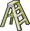 picture of a short step ladder in a vector clip art illustration clipart