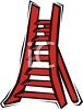 picture of a red ladder in a vector clip art illustration clipart