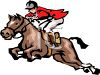picture of a jockey riding a horse in a vector clip art illustration clipart