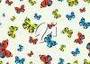 picture of an array of different colored butterflies on a white background in a vector clip art illustration clipart
