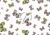 Picture of an array of purple and green butterflies on a white background in a vector clip art illustration clipart