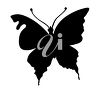 picture of a silhouette of a butterfly in a vector clip art illustration clipart