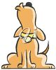 cute cartoon dog howling clipart