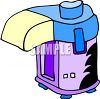 picture of a air popcorn popper in a vector clip art illustration clipart