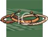 picture of a bracelets in a vector clip art illustration clipart