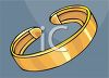 picture of a gold bracelet on a blue background in a vector clip art illustration clipart