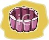 picture of a purple braclelet on a yellow background in a vector clip art illustration clipart