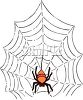 picture of a spider in a spider web in a vector clip art illustration clipart