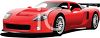 picture of a red sports car on a white background in a vector clip art illustration clipart