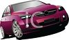 picture of a purple sporty sedan in a vector clip art illustration clipart