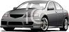 picture of a silver 4 door sedan in a vector clip art illustration clipart