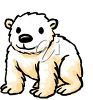 picture of a baby polar bear sitting down in a vector clip art illustration clipart