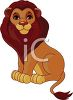 picture of a cartoon of a lion on a white background in a vector clip art illustration clipart
