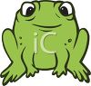 picture of a cute frog sitting in a vector clip art illustration clipart