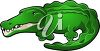 picture of a cartoon alligator on a white background in a vector clip art illustration clipart