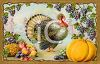 A turkey and harvest vegetables for Thanksgiving clipart