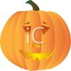 picture of a carved pumpkin in a vector clip art illustration clipart