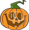 picture of a jack o lantern on a white background in a vector clip art illustration clipart