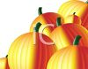 picture of an array of pumpkins in a vector clip art illustration clipart