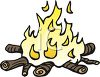 picture of a burning campfire in a vector clip art illustration clipart