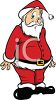 picture of a confused Santa Standing up with a funny face in a vector clip art illustration clipart