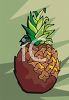 picture of a whole pineapple in a vector clip art illustration clipart