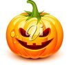 An evil looking Halloween pumpkin illustration. clipart