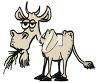 picture of a goat chewing on grass in a vector clip art illustration clipart