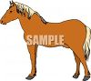 picture of a horse standing in a vector clip art illustration clipart