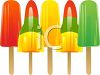 picture of a variety of popsicles on a white background in a vector clip art illustration clipart