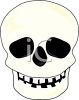 picture of a skull on a white background in a vector clip art illustration clipart