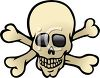 picture of a skull with crossbones in a vector clip art illustration clipart