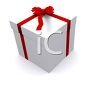 Rendered 3D image of a Christmas gift clipart