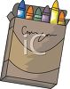 picture of a box of colourful crayons on a white background in a vector clip art illustration clipart
