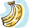 picture of  a cartoon of a banana bunch on a  clipart
