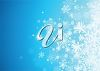 picture of snowflakes on a blue background in a vector clip art illustration clipart