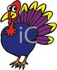 picture of a bright colored turkey on a white background in a vector clip art illustration clipart