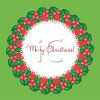 picture of a holiday wreath with a white lace center on a green background in a vector clip art illustration clipart
