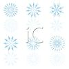 picture of blue colored snow flakes on a white background in a vector clip art illustration clipart