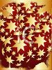 picture of  christmas decorations with gold stars in a vector clip art illustration clipart