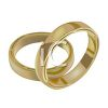 picture of two gold wedding bands in a vector clip art illustration clipart