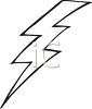 picture of a lightning bolt in black and white in a vector clip art illustration clipart