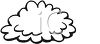 picture of a cloud in black and white in a vector clip art illustration clipart