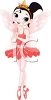 picture of a fairy ballerina standing on her toes in a vector clip art illustration clipart